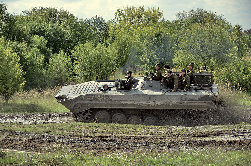 Infantry fighting vehicle ride